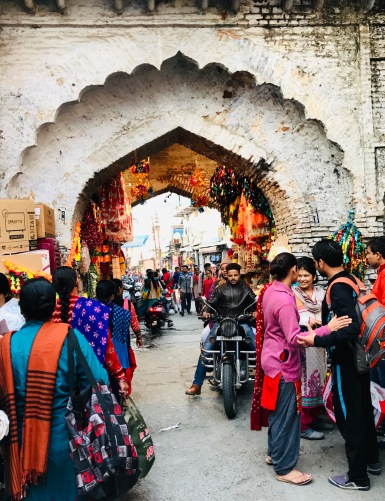 Rishikesh market during Diwali celebration